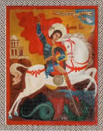 The icon of Great Martyr St. George the Victory-Bearer presented to the Church by counterespionage officers